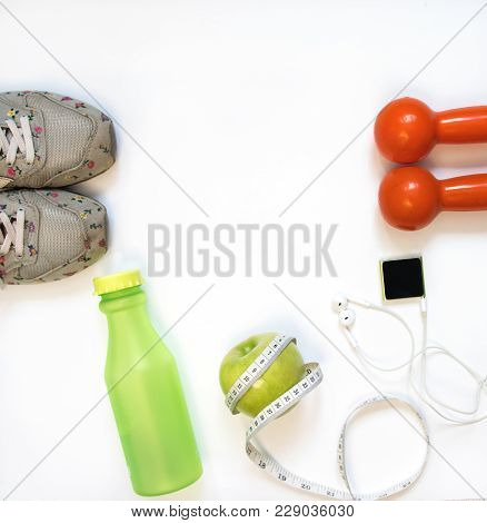 Sports Accessories For Woman Top View