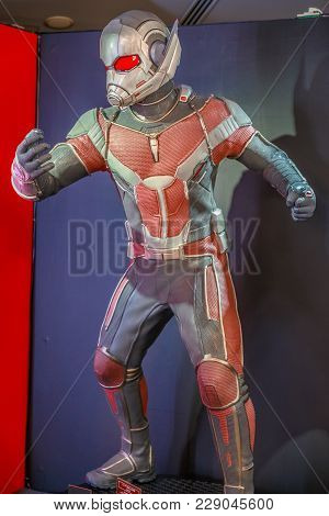 Tokyo, Japan - April 20, 2017: Ant Man Model From Age Of Heroes Movie At Mori Tower, Roppongi Hills