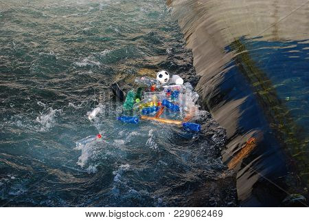 Garbage In The Water - Environmental Pollution