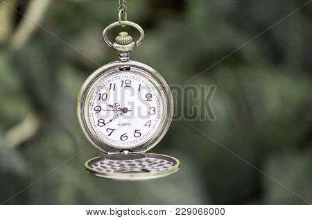 Vintage Watch On A Chain. Pocket Watch