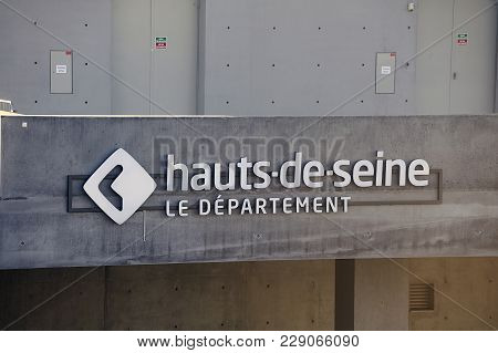 Boulogne-billancourt, France - December 28, 2017: Logo Of The French Department Of The Hauts Seine W