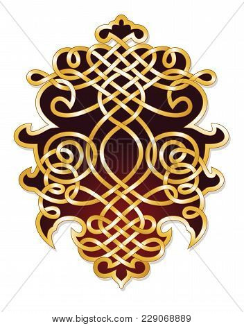 Abstract Filigree Ornament For An Elegant Crest