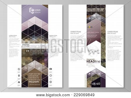 Blog Graphic Business Templates. Page Website Design Template, Easy Editable Abstract Vector Layout.