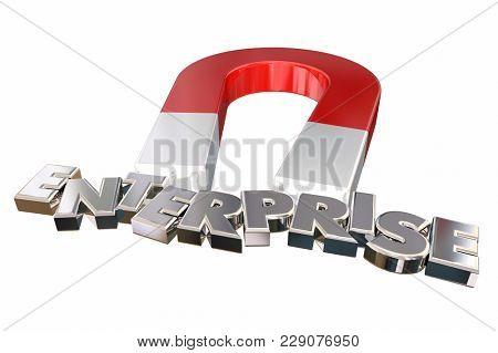 Enterprise Business Planning Company Resources 3d Illustration