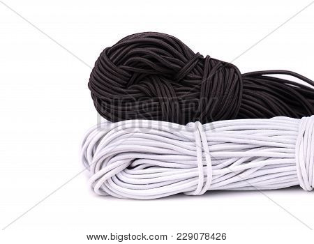 Rubber Band For Sewing Clothes. Sewing Elastic Band Isolated On White Background