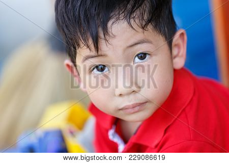 Child Looking Intently Closeup Detail Boy Art