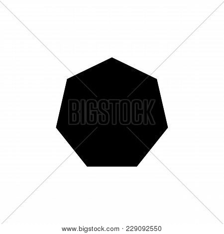 Heptagon Icon. Elements Of Geometric Figure Icon For Concept And Web Apps. Illustration  Icon For We