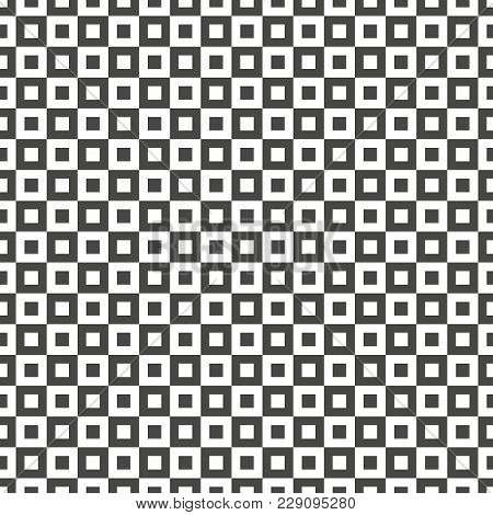 Seamlessly Repeatable Vector Pattern. Checkered Chequered Background With Tilted Squares.