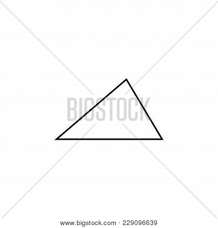 Acute Triangle Icon. Geometric Figure Element For Mobile Concept And Web Apps. Thin Line  Icon For W
