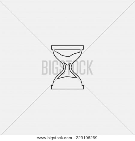 Sand Glass Icon Vector Illustration, Sand Clock Icon Vector
