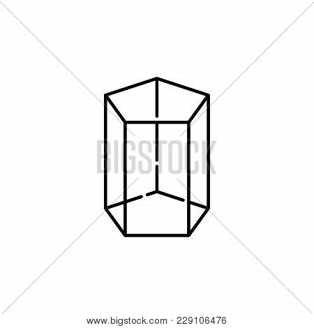Pentagonal Prism Icon. Geometric Figure Element For Mobile Concept And Web Apps. Thin Line  Icon For