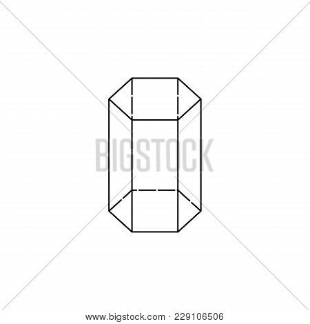 Hexagonal Prism Icon. Geometric Figure Element For Mobile Concept And Web Apps. Thin Line  Icon For