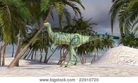 dilophosaurus in oasis