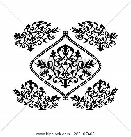 Barocco Vintage Pattern On White Background Vector