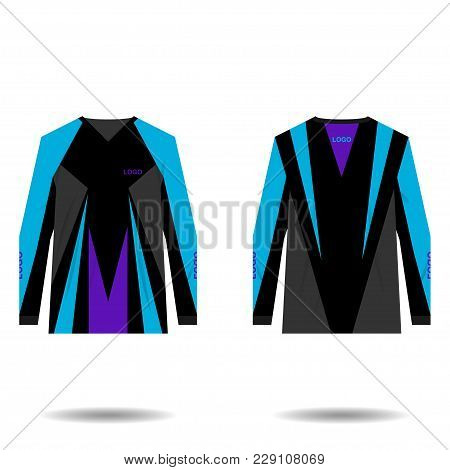 Jersey Design For Extreme Cycling. Mountain Bike Jersey. Vector Illustration For Sublimation Printin