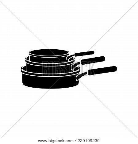 Set Of Pans Icon. Element Of Kitchenware Icon. Premium Quality Graphic Design. Signs, Outline Symbol