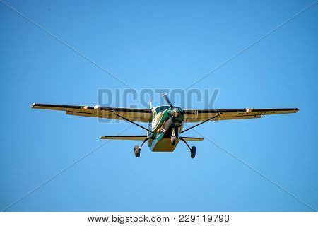 Nairobi, Kenya - January 2, 2015: Cessna Plane In Air. The Cessna Aircraft Company Was An American G