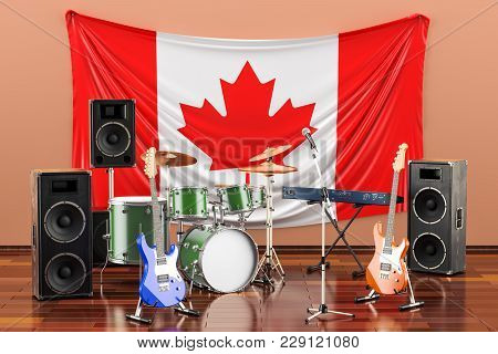 Music, Rock Bands From Canada Concept, 3d Rendering