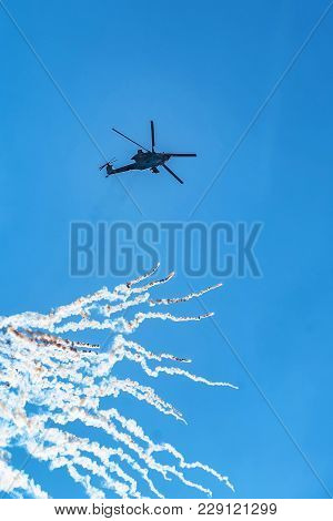 Rostov-on-don, Russia - Circa August, 2017: Russian Air Force Mil Mi-28 Havoc Military Attack Combat