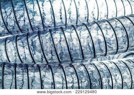spiral pvc pipe detail background