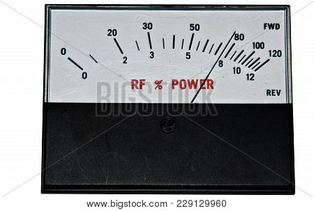 Meter Is Broadcasting , Is Broadcasting 10 Kilowatts.display As A Needle