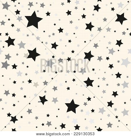 Scandinavian Seamless Pattern With Stars. Stock Vector.