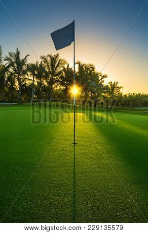 Golf Course In The Tropical Island. Punta Cana Resort, Dominican Republic