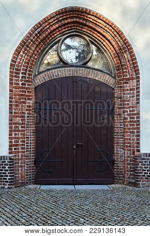 Gothic Portal Of The Medieval Church In Poznan