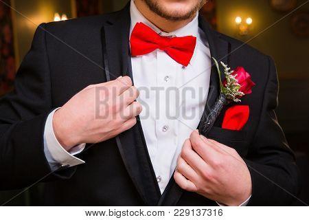 Teenage Boy Dressed For Prom