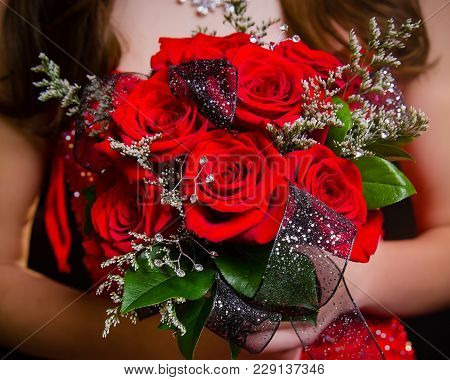 Prom Bouquet Red Roses