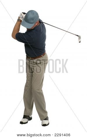 Golfer Back Swing
