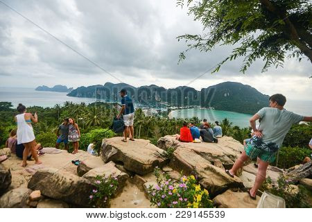 Phi Phi Island - Thailand Thailand 21 May 2017 : View On Tropical Phi Phi Island, Krabi Province, Th