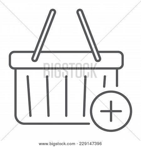Add To Cart Thin Line Icon, E Commerce And Marketing, Retail Box Sign Vector Graphics, A Linear Patt