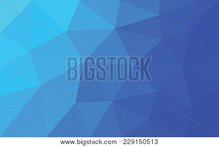 Blue Purple Triangle Polygon Background, Geometric Abstract