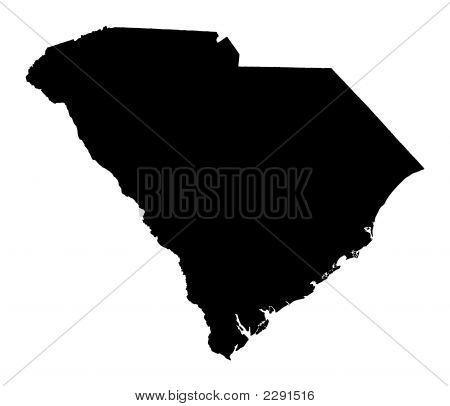Map Of South Carolina, Usa