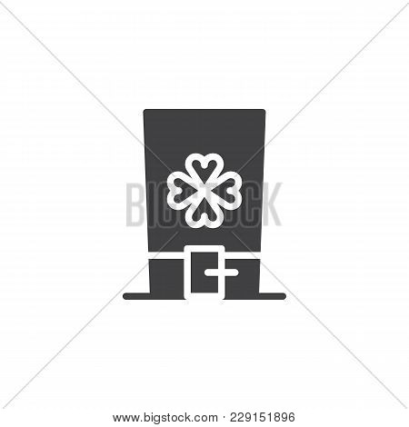 Hat With Clover Leaf Vector Icon