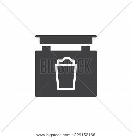 Signboard With Beer Glass Vector Icon. Filled Flat Sign For Mobile Concept And Web Design. Pub Signb