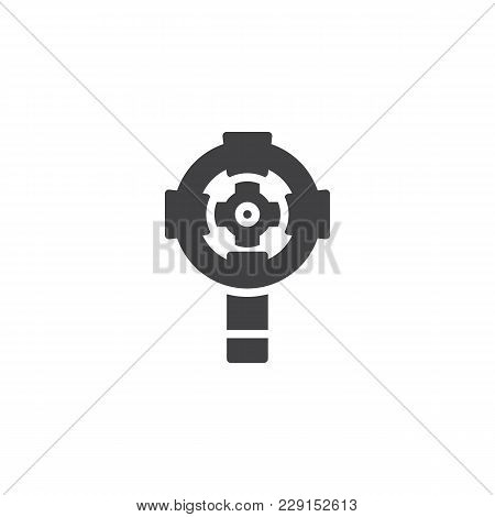 Catholic Wall Cross Vector Icon. Filled Flat Sign For Mobile Concept And Web Design. Celtic Eucharis