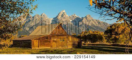 Panorama - Moulton Barn In Grand Teton National Park