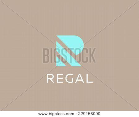 Stripes Letter R Vector Logotype. Creative Abc Logo Icon Design