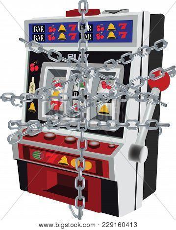 Slot Machine Locked With Chain Slot Machine Locked With Chain