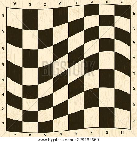 Abstract Chess Board. Empty Checkered Background Illustration