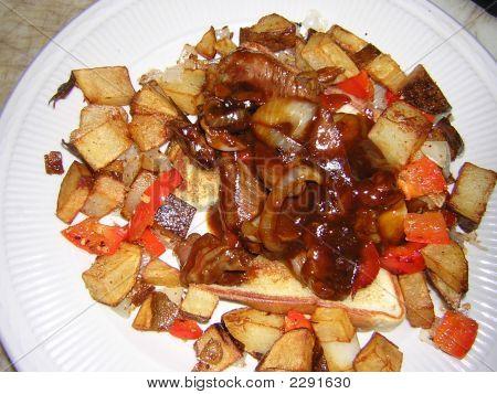 bbq's steak sandwhich