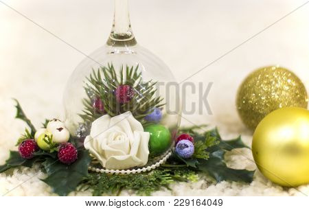 Christmas Tree, Decorative Christmas Tree. New Year And Christmas Decorations. New Year And Christma