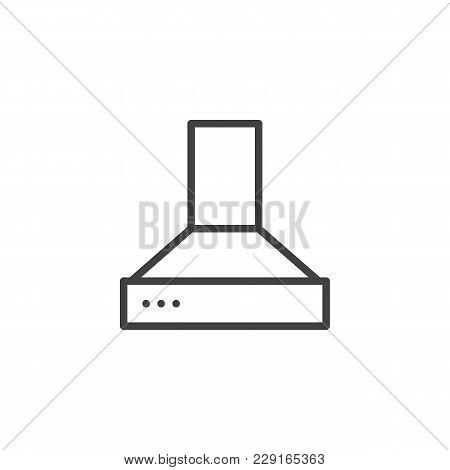Exhaust Hood Outline Icon. Linear Style Sign For Mobile Concept And Web Design. Kitchen Exhauster Si