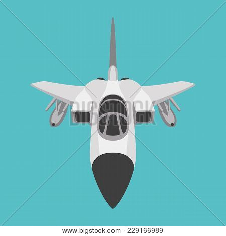 Aero Pursuit-plane Vector Illustration Flat Style Front Side
