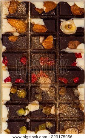 Homemade Tasty Chocolate Bar . Handmade Sweets.