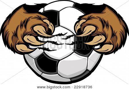 Soccer Ball With Bear Claws