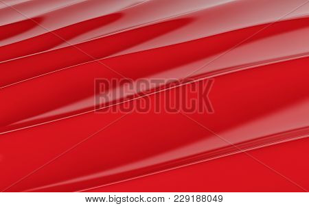 Red Silk Drapery And Fabric Background. 3d Rendering