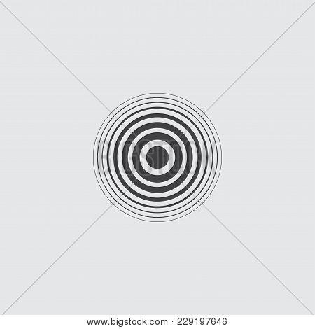 Pain Circle Icon For Medical Painkiller Drug Medicine. Vector Illustration.